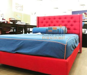 Brand New Queen Size Red Linen Upholstered Platform Bed Frame ONLY for Sale in Silver Spring, MD