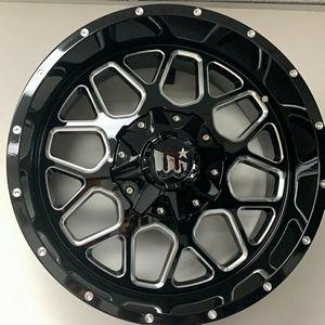 "Brand New 20"" WCRL 20X10 5x139.7 / 5x150 Black Milled Wheels for Sale in Miami, FL"