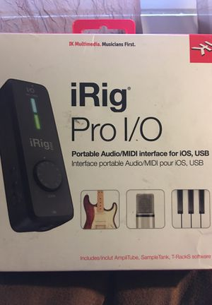 iRig Pro I/O portable audio/ MIDI Interface by IK Multimedia for Sale in Spring Valley, NY