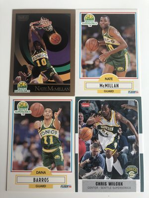 16 Seattle SuperSonics NBA Cards for Sale in Tacoma, WA