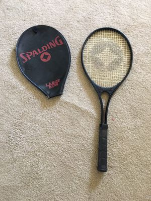 Spaulding Large Bow Tennis Racket w/ Cover for Sale in Brooklyn, OH