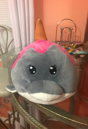Cute Ice Cream Cone Stuffed Narwhal for Sale in Gaithersburg, MD