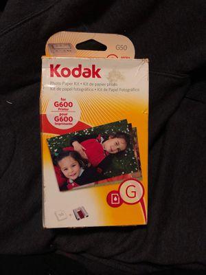 Kodak photo paper kit. Goes for G600 printer. for Sale in Riverdale, IA