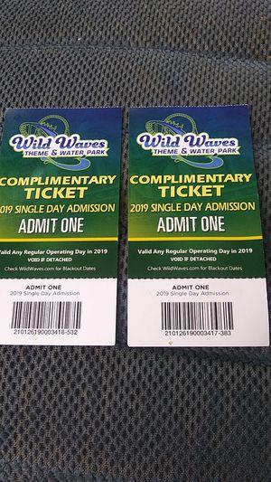 Wild waves tickets for Sale in Elma, WA