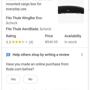 Thule Sport Roof Box for Sale in Addison, IL