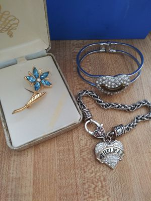 Juicy Couture bracelet antique brooch and another bracelet all for $30 for Sale in Las Vegas, NV