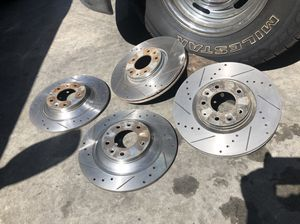 MAZDA 6 !!! Slotted drill disk rotors 🚨🚨🚨🚨 semi-NEW for Sale in Inglewood, CA