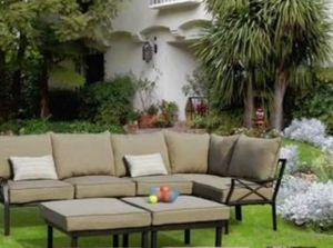 New!! Patio set, sectional Outdoor Set, seats 6, 7 pc outdoor conversation sectional set, chat set, patio furniture , beige for Sale in Phoenix, AZ