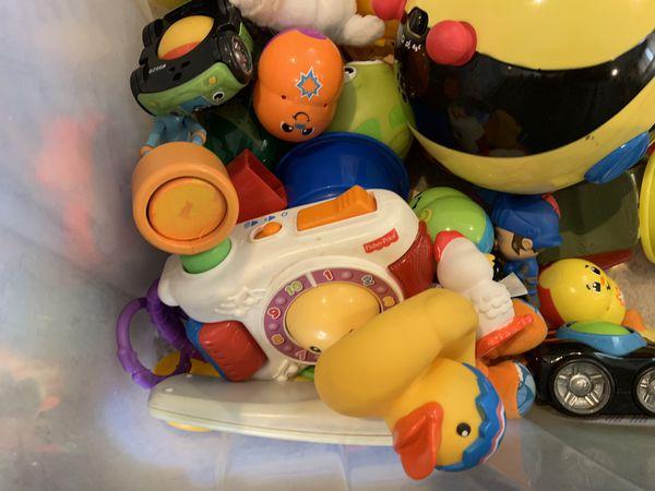 Bin of baby toys!