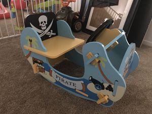 Pirate Rocker NEW wooden toddler small kid chair for Sale in Oceanside, CA