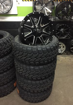 20 inch fuel Mavericks and mt tires! We finance $0 down for Sale in Gresham, OR
