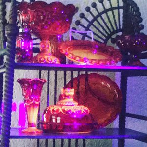 VINTAGE LE SMITH MOON AND STARS AMBERINE GLASS Collection for Sale in Cooper City, FL