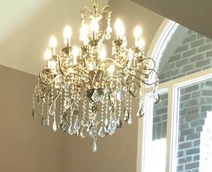 High quality imported crystal chandelier 22 bulb, gold plated frame for Sale in Raleigh, NC