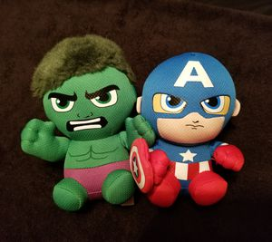 Marvel Ty Hulk/Captain America Beanie Baby Lo for Sale in Louisville, KY