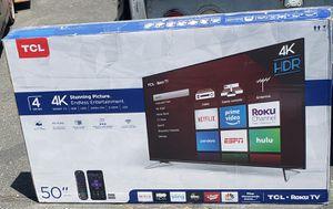 "50"" TCL TV 4K Roku Smart led HDR for Sale in Las Vegas, NV"