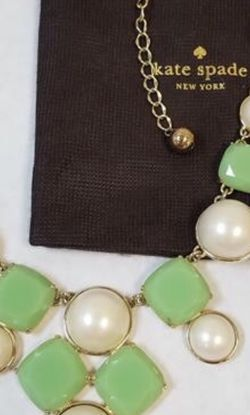 Kate Spade Green and White Statement Necklace for Sale in Severn,  MD