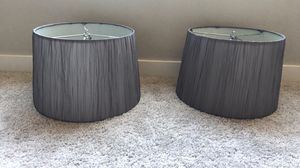 Grey lamp shades for Sale in Sumner, WA