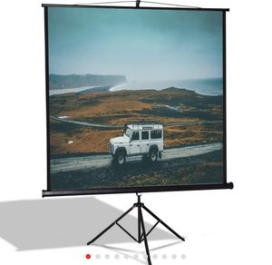 """84"""" Tripod Floor Stand Manual Pull up Projection screen 📺 for Sale in San Bernardino, CA"""