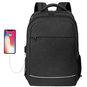Laptop Backpack up to 17.3 inch, Water Resistant College School Computer Bag Slim Work Backpack for Laptops & Notebook with USB Charging Port (Black) for Sale in Arlington, TX