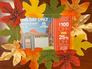 Last Tuff Shed 1 Day Sale of the year. Call Sandy at {contact info removed} for Sale in Doraville, GA