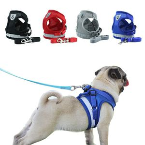 Dog Cat Harness Pet Adjustable Reflective Vest Walking Lead Leash for Puppy Polyester Mesh Harness for Small Medium Dog for Sale in Bethesda, MD