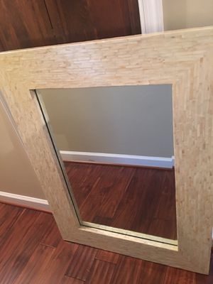 Mother of pearl 30 x 40 mirror for Sale in Springfield, VA