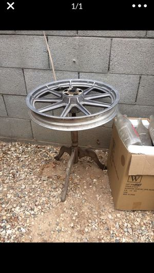 Harley Davidson wheel motorcycle table for Sale in Goodyear, AZ