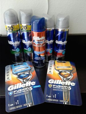 Gillette shave gel and razors. All new for $20 for Sale in Everett, WA