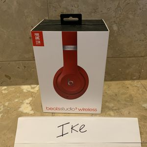 Beats By Dre Studio 3 Wireless Bluetooth Headphones (Red) for Sale in Las Vegas, NV