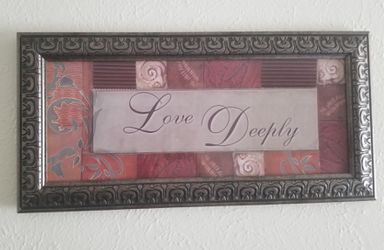 Love deeply wall decor for Sale in Irving,  TX