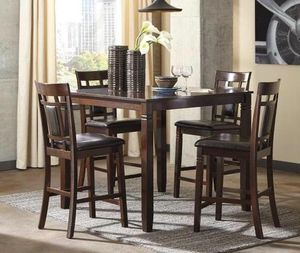 (BRAND NEW) 5-PC Espresso Brown Breakfast Kitchen Dinning Table Set for Sale in Houston, TX