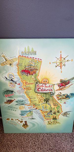Wall art CALIFORNIA surfing for Sale in Corona, CA