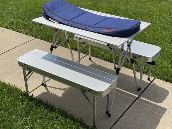 Coleman portable camp table
