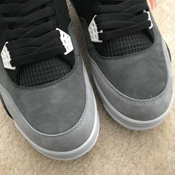 New Air Jordan 4 Black Grey Size 10