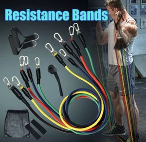 Gym Resistance Bands 11 pcs yoga Zumba weightlifting for Sale in Los Angeles, CA