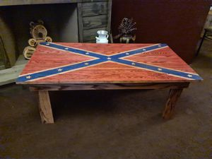 Confederate flag coffee table for Sale in Uniontown, PA