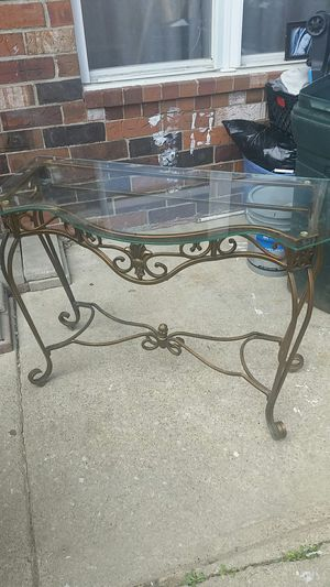 Glass metal table for Sale in Columbus, OH