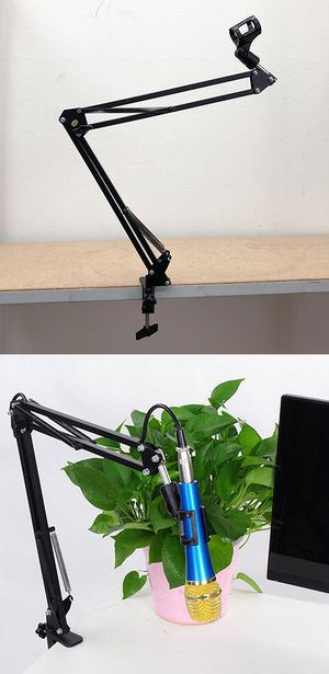 New $10 Mic Microphone Suspension Boom Scissor Studio Broadcast Stage Arm Stand Holder for Sale in Whittier, CA