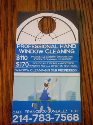 Window cleaning free rain x for Sale in Irving, TX