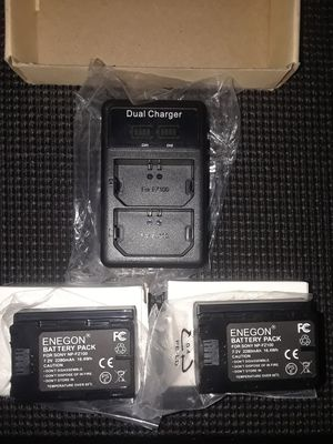 ENEGON NP-FZ100 Replacement Battery (2-pavk) and Rapid Dual USB Charger (New ) for Sale in West Covina, CA