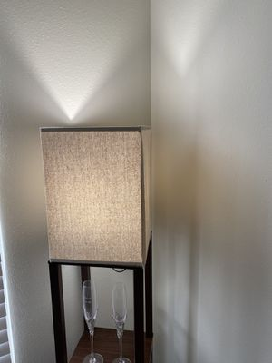 Shelf floor lamp- threshold for Sale in New Albany, OH