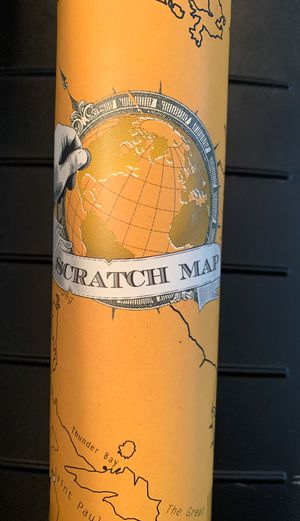 Scratch Map-great for travelers for Sale in Ocoee, FL