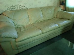 Italian Leather Sofa for Sale in Boston, MA
