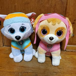 Ty Beanie Boos Paw Patrol Skye Everest Lot Of 2 Dogs Plush Jumbo Giant for Sale in Dallas, TX