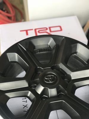 """Toyota 4Runner Painted Black Rims 17"""" by 7"""" for Sale in Portland, OR"""