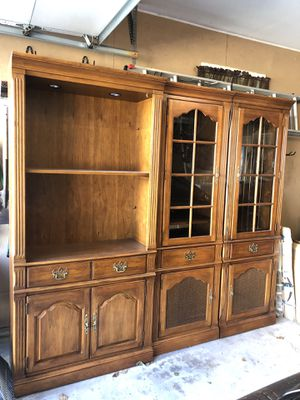 Thomasville Wood Cabinets/Bookshelves for Sale in Aurora, IL
