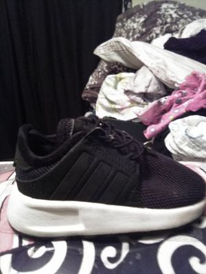 Adidas all black white bottom size 5t. $15.00 for Sale in Upland, CA