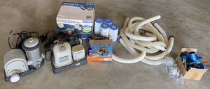 Intex Pool Pump + Intex Pool Saltwater System + Misc Pool Parts for Sale in Willoughby, OH