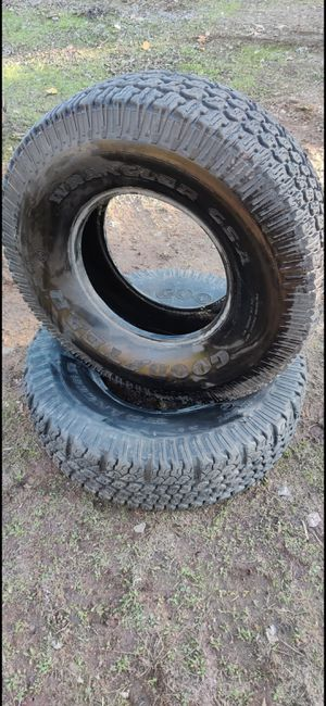"""2 Goodyear Wrangler GSA 37"""" offroad tires 37/12.5/17 for Sale in Jamul, CA"""