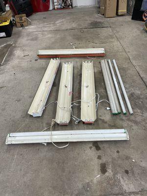 5 Fluorescent light fixtures/shop lights for Sale in Dallas, TX